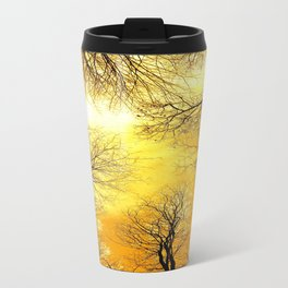 Black Trees Golden Sky Travel Mug
