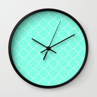 moroccan Wall Clocks featuring Mint Moroccan by Beautiful Homes
