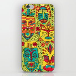 Tiki tiki iPhone Skin