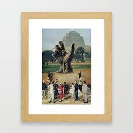 Illuminati Inauguration  - Vintage Collage Framed Art Print