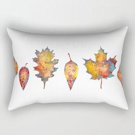Orange Leaves for Autumn Rectangular Pillow