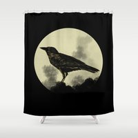 crow Shower Curtains featuring Crow by Arts and Herbs