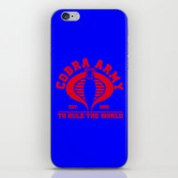 army iPhone & iPod Skins featuring Cobra army by CarloJ1956