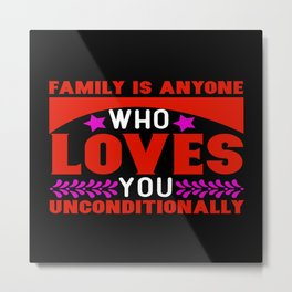 Family Father Mother Son Love Daughter Metal Print