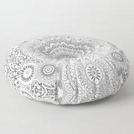 MOONCHILD MANDALA BLACK AND WHITE Floor Pillow