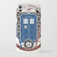 fandom iPhone & iPod Cases featuring crest of the knight of fandom (a LOT of fandoms actually ;)  by Koroa