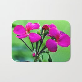 PINK Blossoms before GREEN Bath Mat