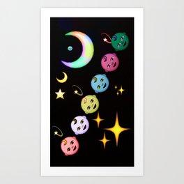 Alien Moon Rainbow Baby Art Print