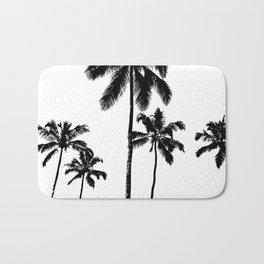 Monochrome tropical palms Bath Mat