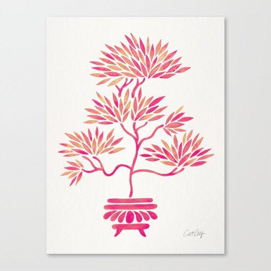 Bonsai Tree – Pink Palette Canvas Print