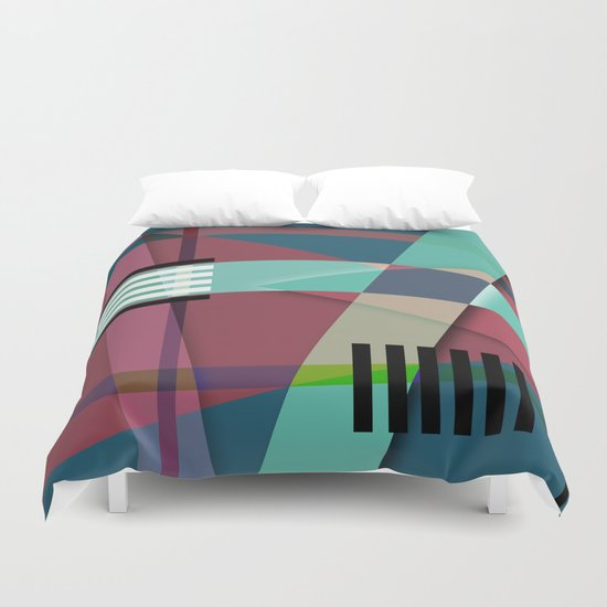 Abstract #410 Duvet Cover