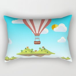 flying islands Rectangular Pillow
