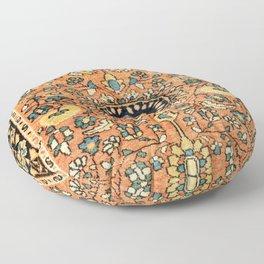 Sarouk Poshti Vintage Persian Rug Print Floor Pillow
