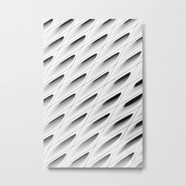 The Broad In the Afternoon Black & White Pattern Photography I Metal Print