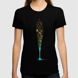 V Shaped Champagne Glasses T-shirt
