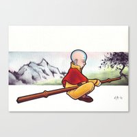 the last airbender Canvas Prints featuring The Last Airbender by Warbunny