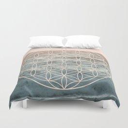 Mandala Flower of Life Sea Duvet Cover
