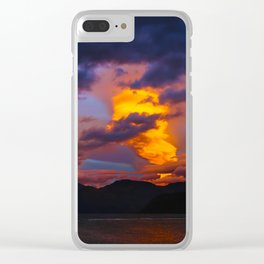 Lake Wanaka Sunset Clear iPhone Case
