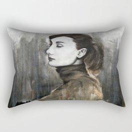 Audrey Hepburn Speed Painting Rectangular Pillow