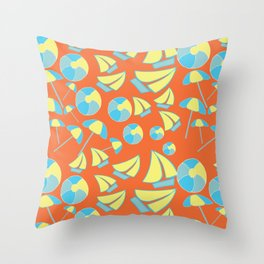 Beach Balls 2 Throw Pillow