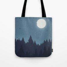 Tree Line - Blue Tote Bag