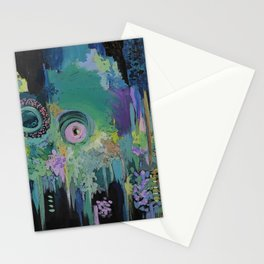 Memory of a song at Midnight Stationery Cards