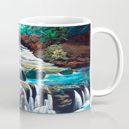 Mountain stream scenery of autumnal leaves Coffee Mug