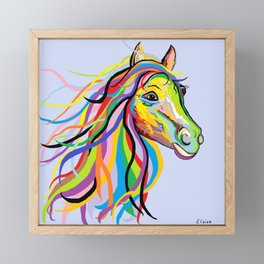 Horse of a Different Color Framed Mini Art Print
