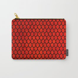 Mermaid Scales - Red Carry-All Pouch