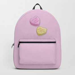 Valentine's Day Sweethearts - Mood Poisoning Conversation Heart Candy Backpack