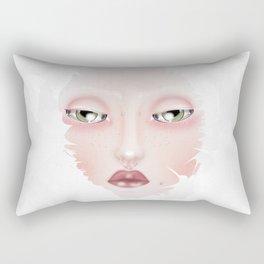 Doll portrait Winter Rectangular Pillow