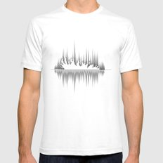 Tree Falls SMALL Mens Fitted Tee White