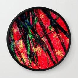 Palm Frond + Beyond [original] Wall Clock
