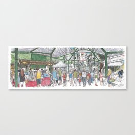 Davis Farmer's Market panorama Canvas Print