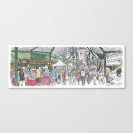 Davis Farmer's Market panorama Canvas Print