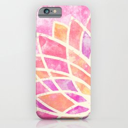 Stained Glass Lotus iPhone Case