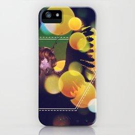 White Unicorn with yellow bokeh iPhone Case