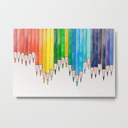colored pencils Metal Print