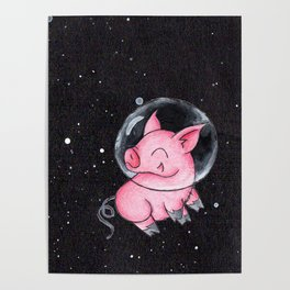 Orbital Piggy Poster