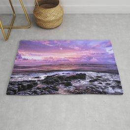 Purple Sunrise, Poipu Beach, Kauai, Hawaii Rug