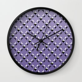 Mod Lt Purple Wall Clock