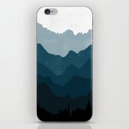 Mists No. 6 - Ombre Blue Ridge Mountains Art Print  iPhone Skin