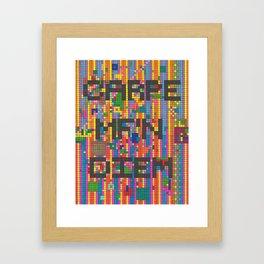 Carpe MF'n Diem Framed Art Print