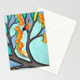 B. orioles in the stained glass tree Stationery Cards