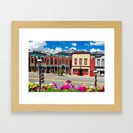 Main Street - Breckenridge Colorado Skyline Framed Art Print