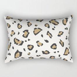 Wildcat Big Leopard Print in Bone White Rectangular Pillow
