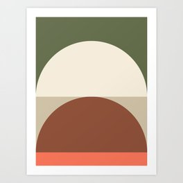 Abstract Geometric 01C Art Print