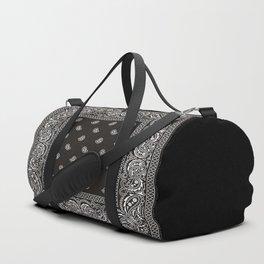 Paisley - Bandana - Black -  Southwestern Duffle Bag