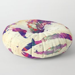 map painting  Floor Pillow