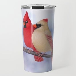 northern cardinals (bokeh) Travel Mug